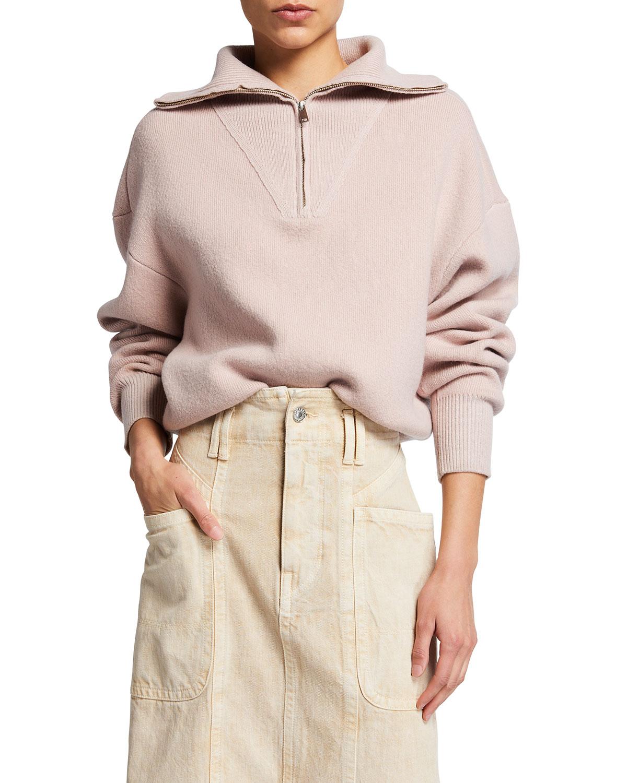 Fancy Zip-Neck Sweater