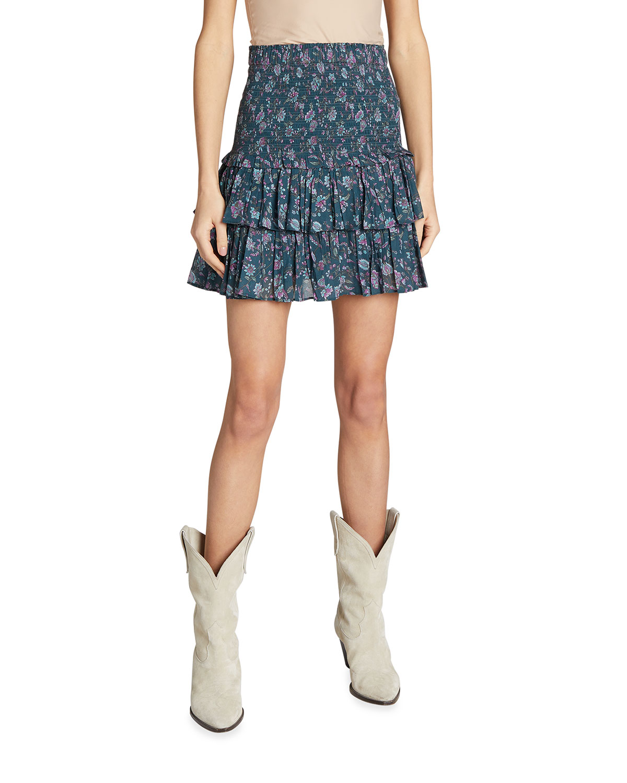 Naomi Smocked Ruffle Skirt