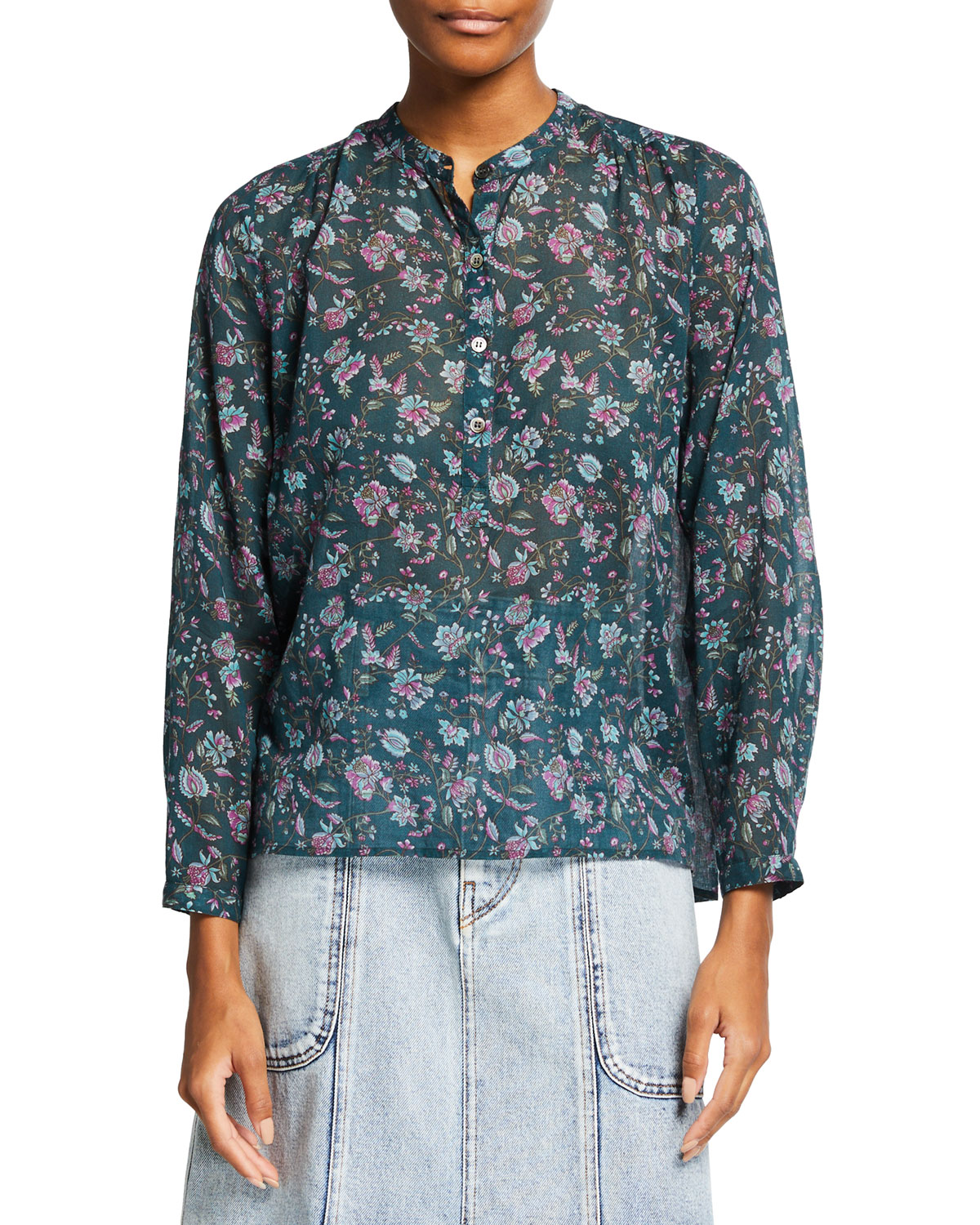 Maria Printed Button-Front Shirt