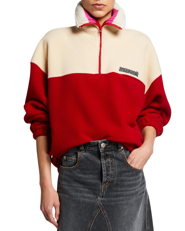 Mamet Two-Tone Fleece Sweater