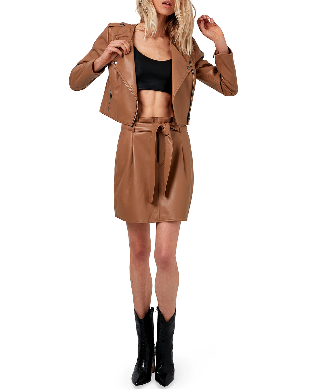 Faye Recycled Leather Jacket