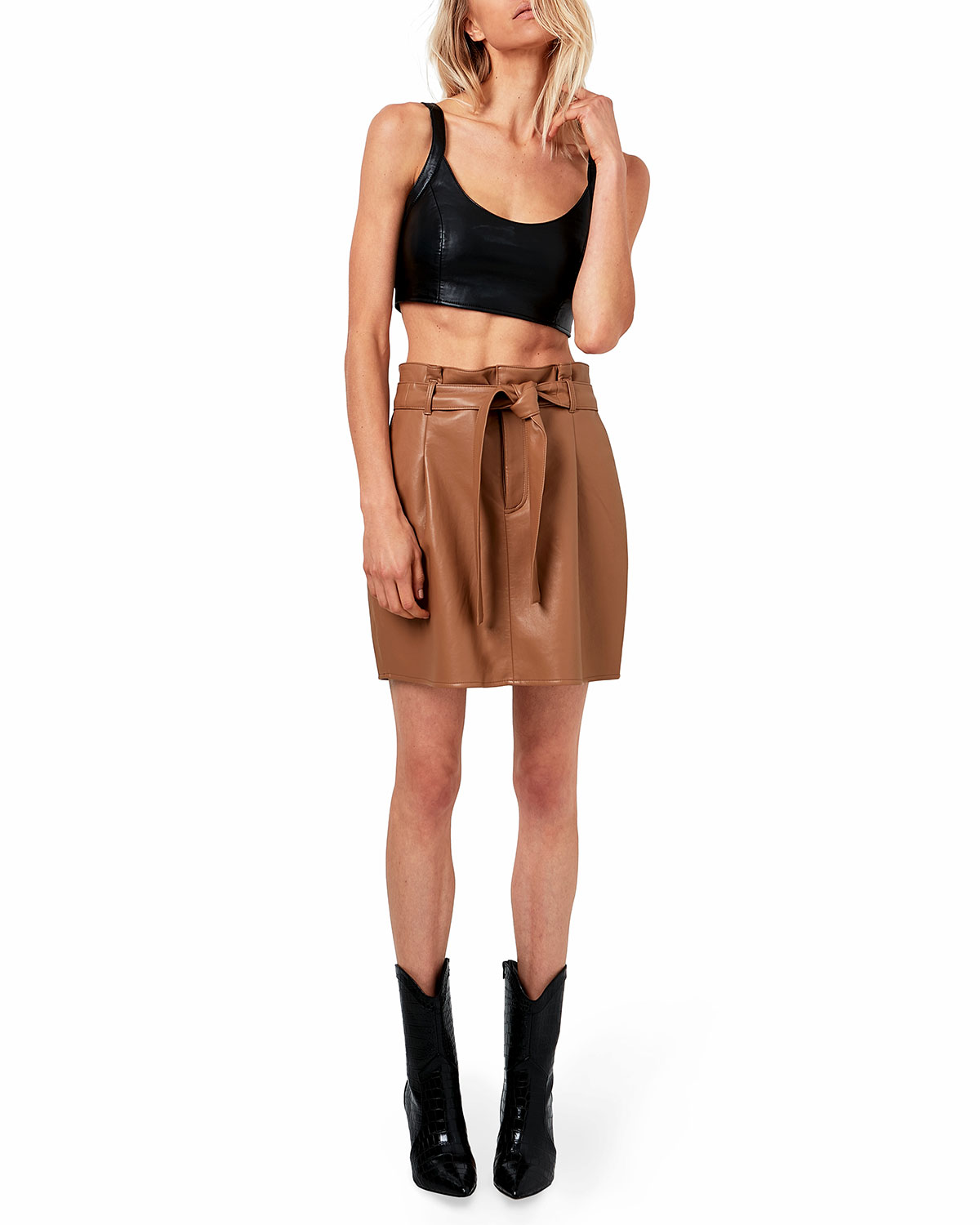 Faye Recycled Leather Skirt