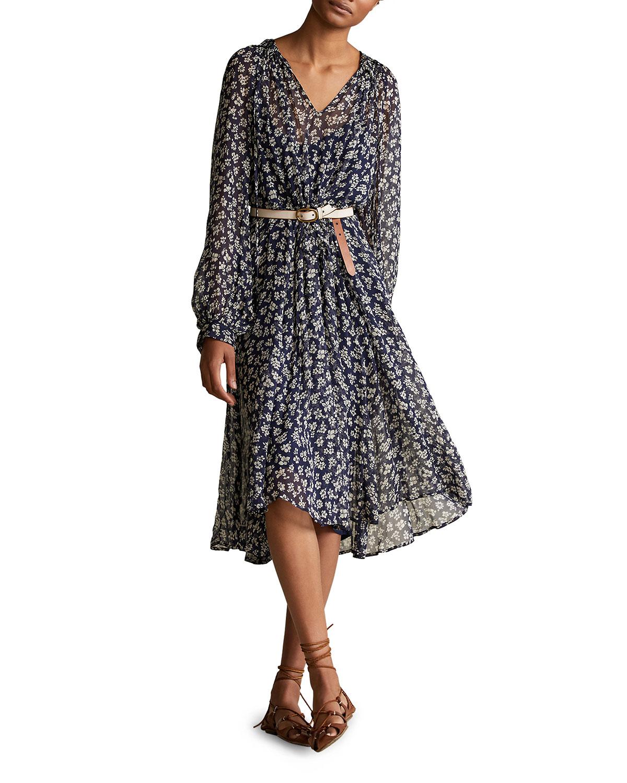Polo Ralph Lauren Maxi dresses FLORAL PRINT BLOUSON-SLEEVE DRESS
