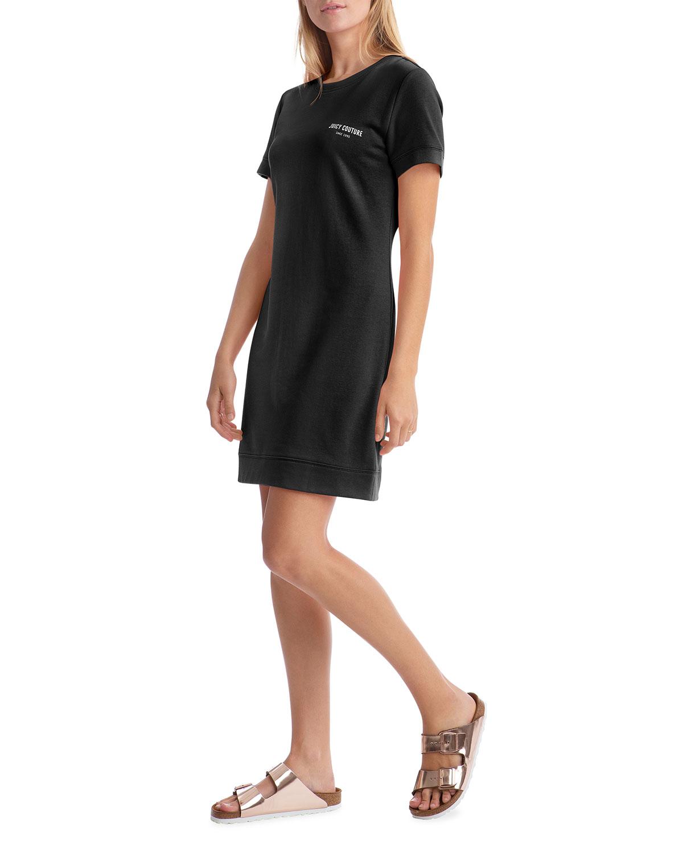 Juicy Couture LOGO SHORT-SLEEVE FLEECE DRESS