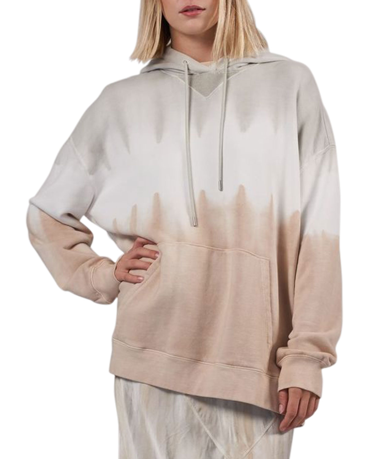 French Terry Tie-Dye Oversized Hoodie