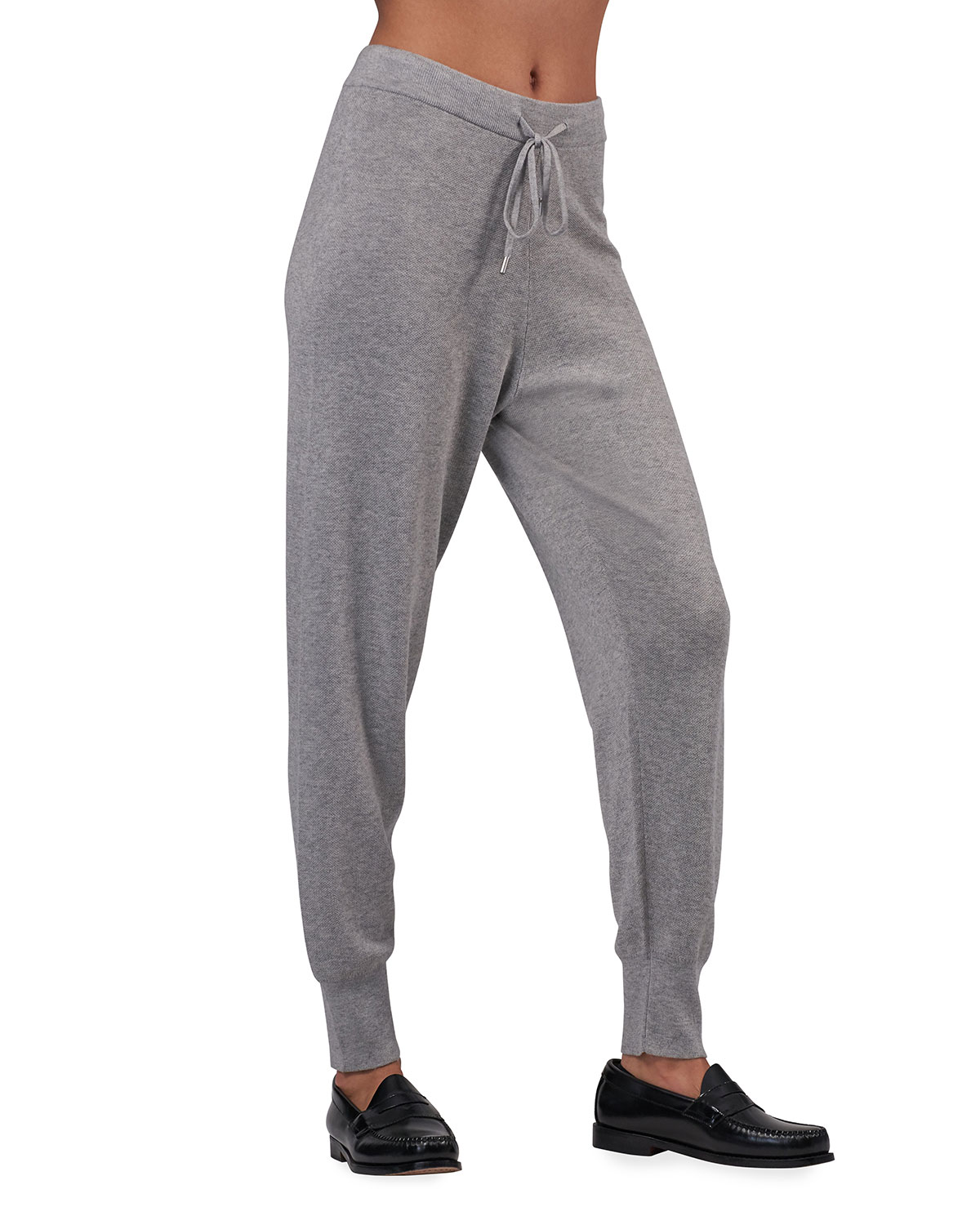 Cashmere-Silk Pull-On Pants