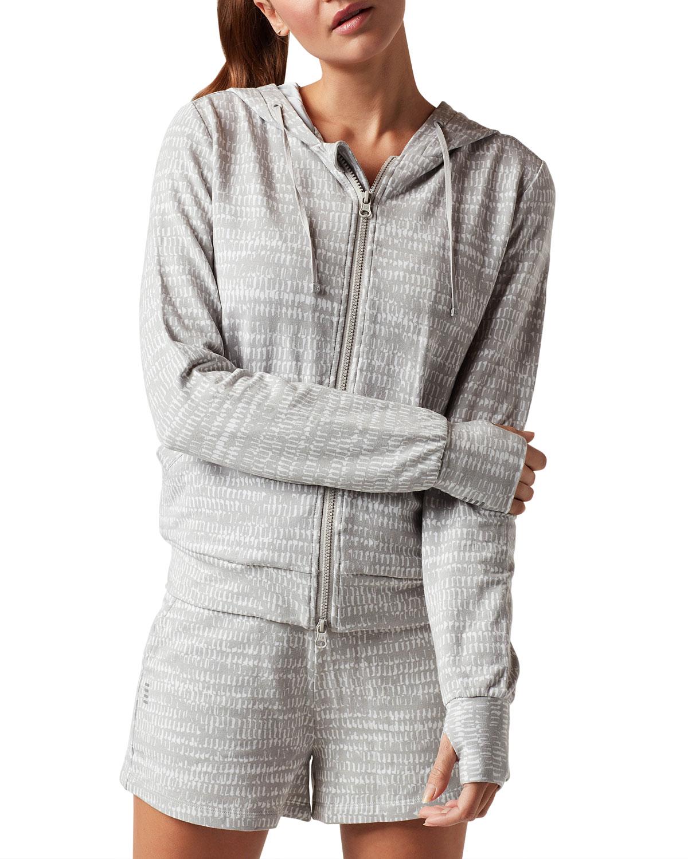 Luxe Fleece Zip-Front Hoodie