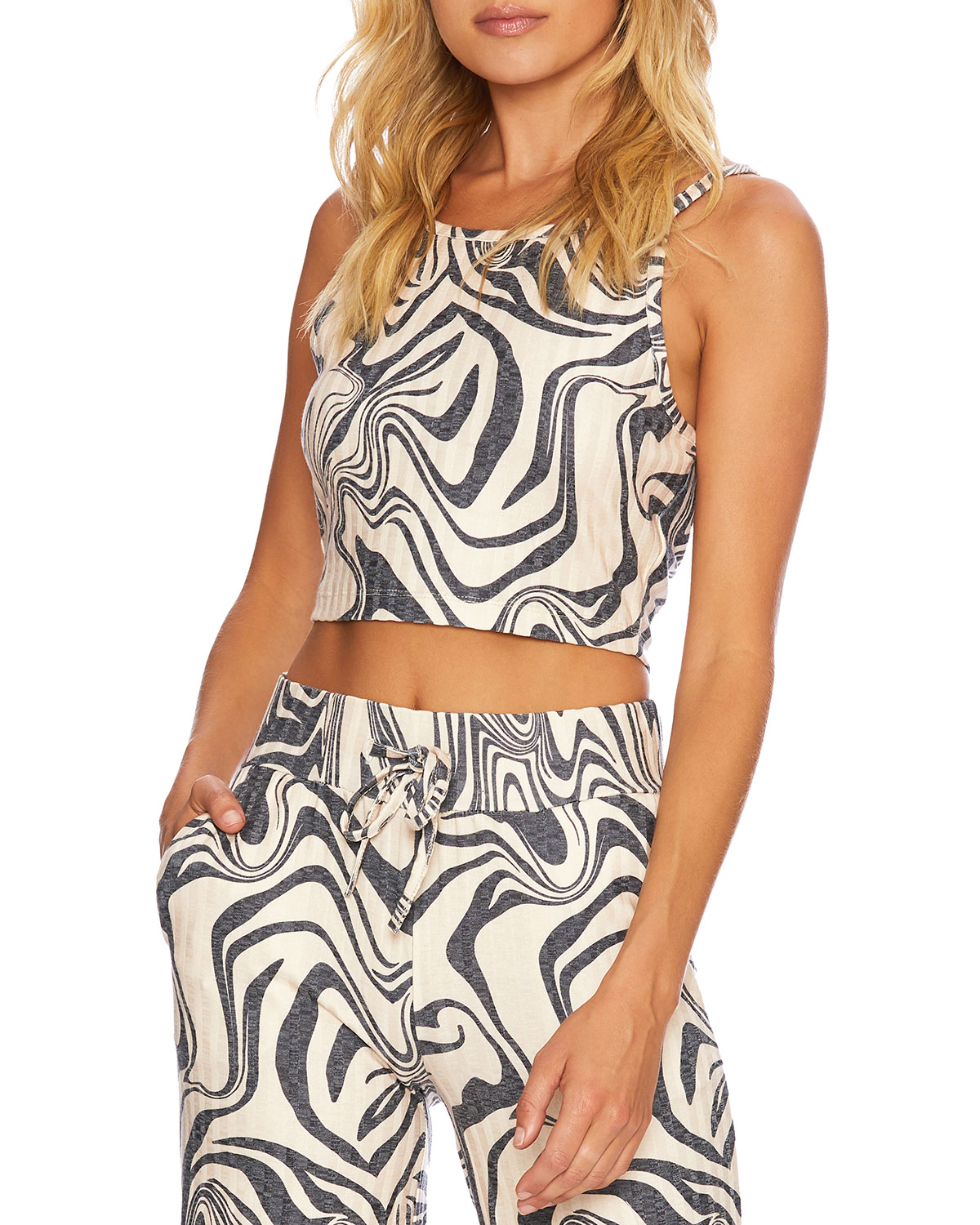 Beach Riot CAYLEE PSYCHEDELIC SWIRL TANK TOP