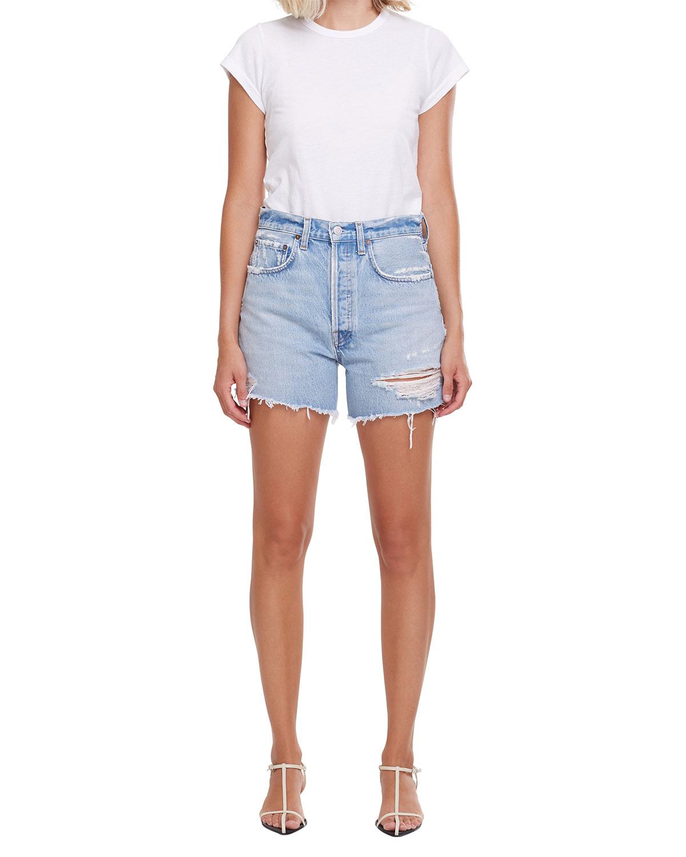 Riley Distressed Denim Shorts