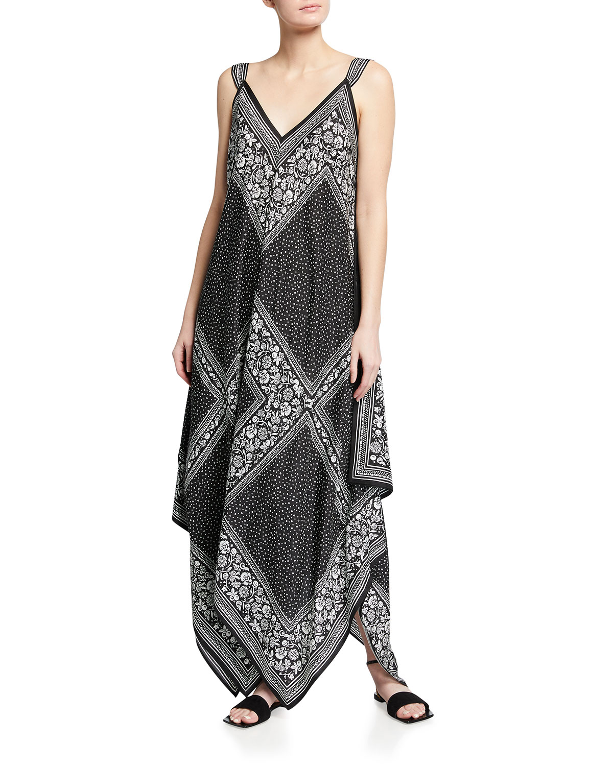 See By Chloé Silks SILK HANDKERCHIEF MAXI DRESS