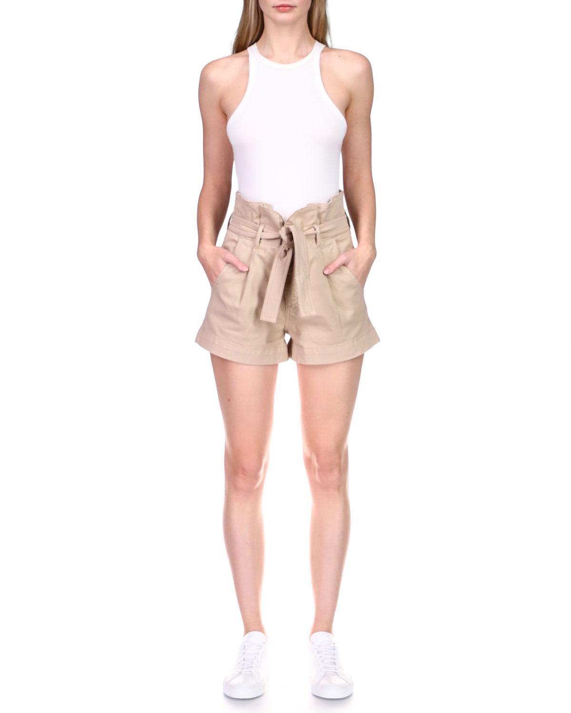 Camile Belted Paperbag Shorts