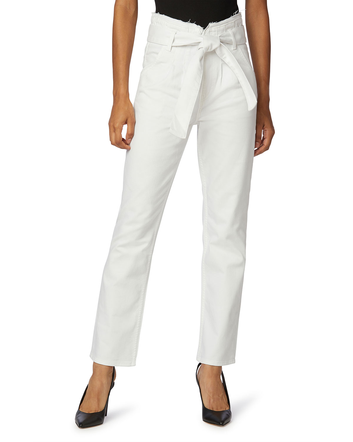 Remi High-Rise Paperbag Straight-Leg jeans