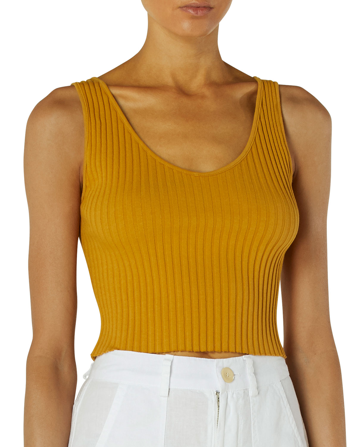 Sweater-Knit Ribbed Crop Top