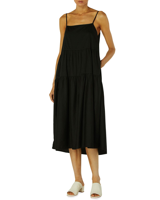 Cotton Midi Tiered Dress