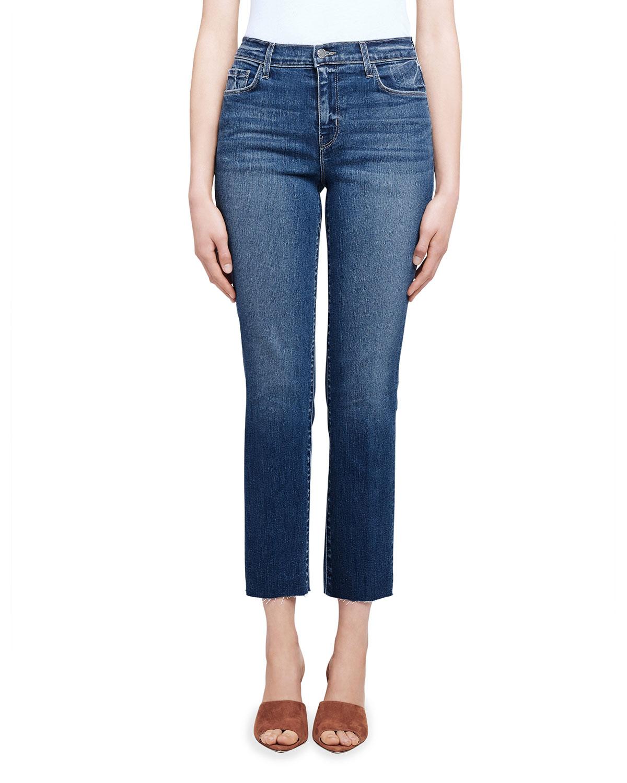 Sada Cropped Straight-Leg Jeans