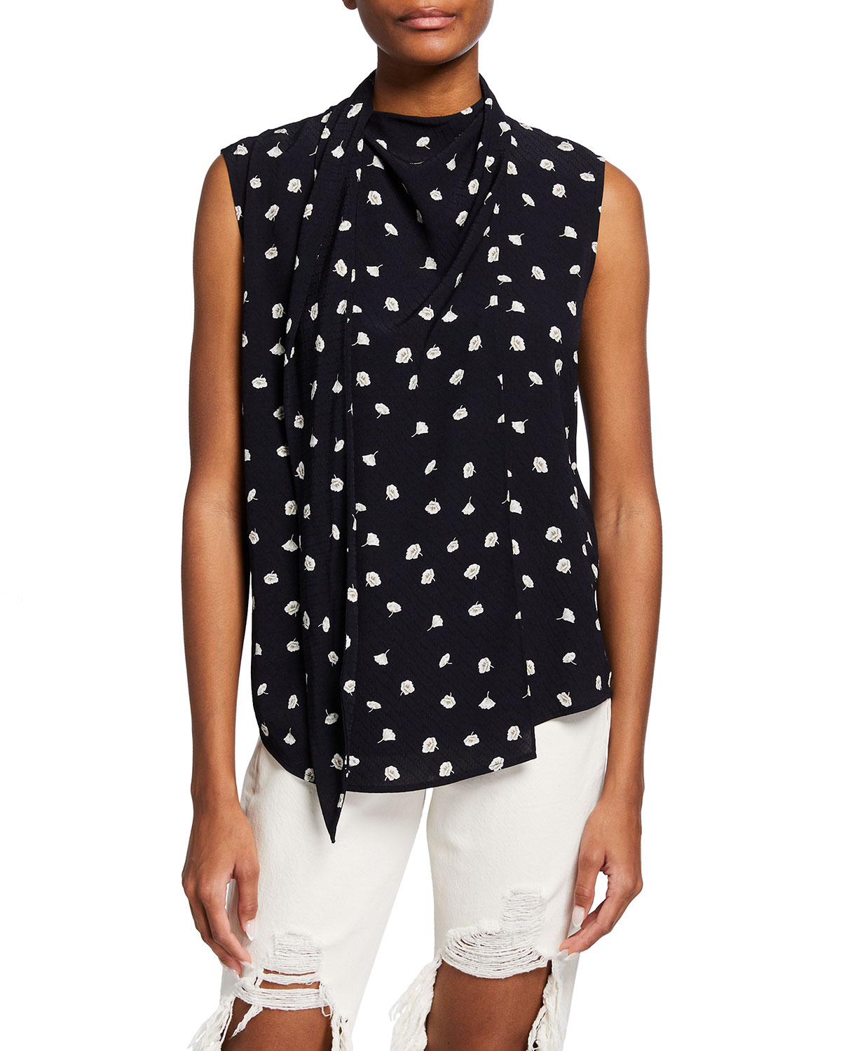 Rag & Bone HALLE FLORAL SLEEVELESS TOP