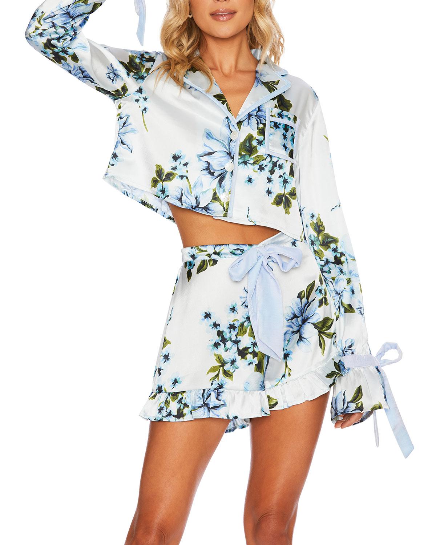 Luna Floral Pajama Blouse
