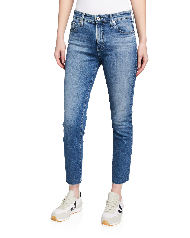 Mari High-Rise Slim Crop Jeans