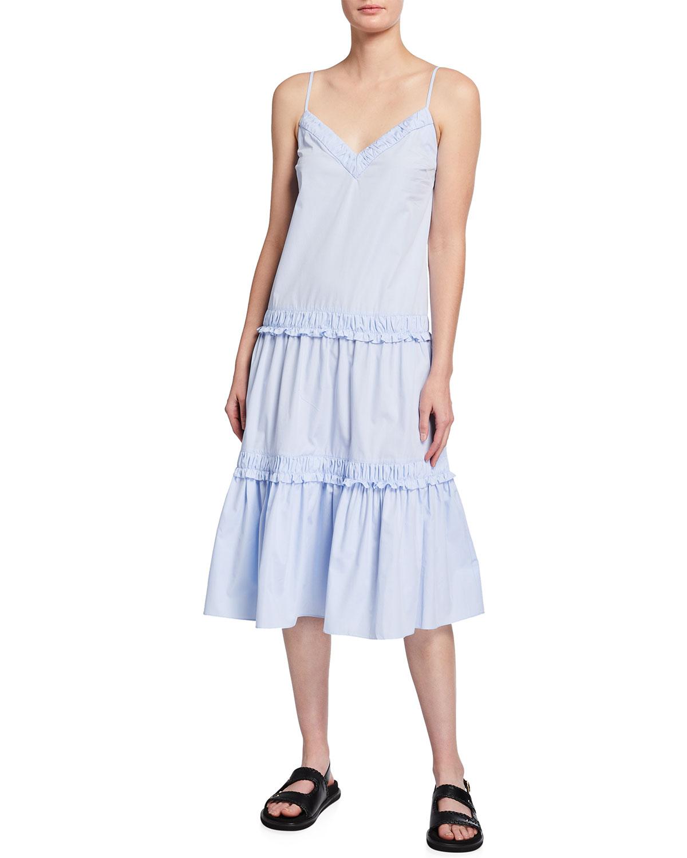 Odile Ruffle Midi Dress