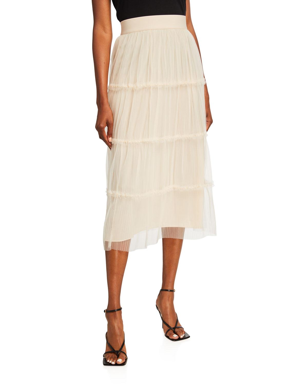Kenya Gathered Midi Skirt