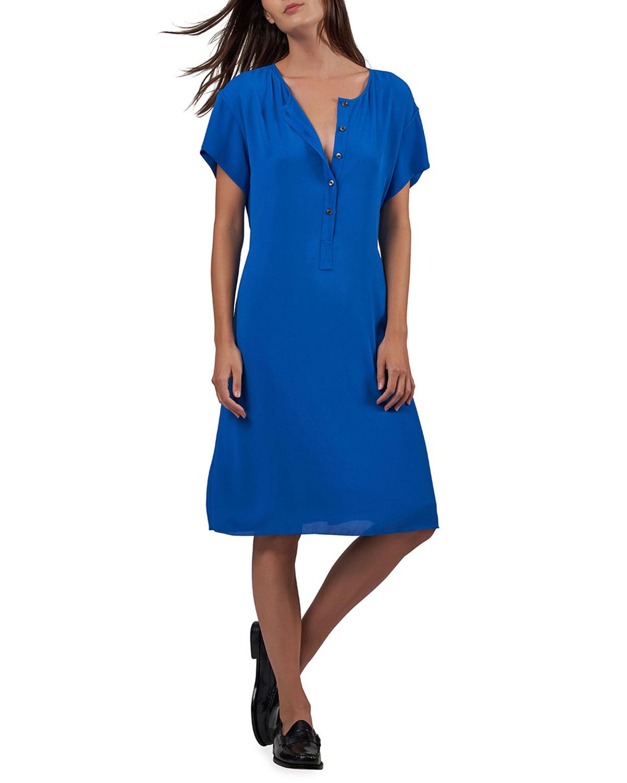 Crepe Georgette Button-Front Dress