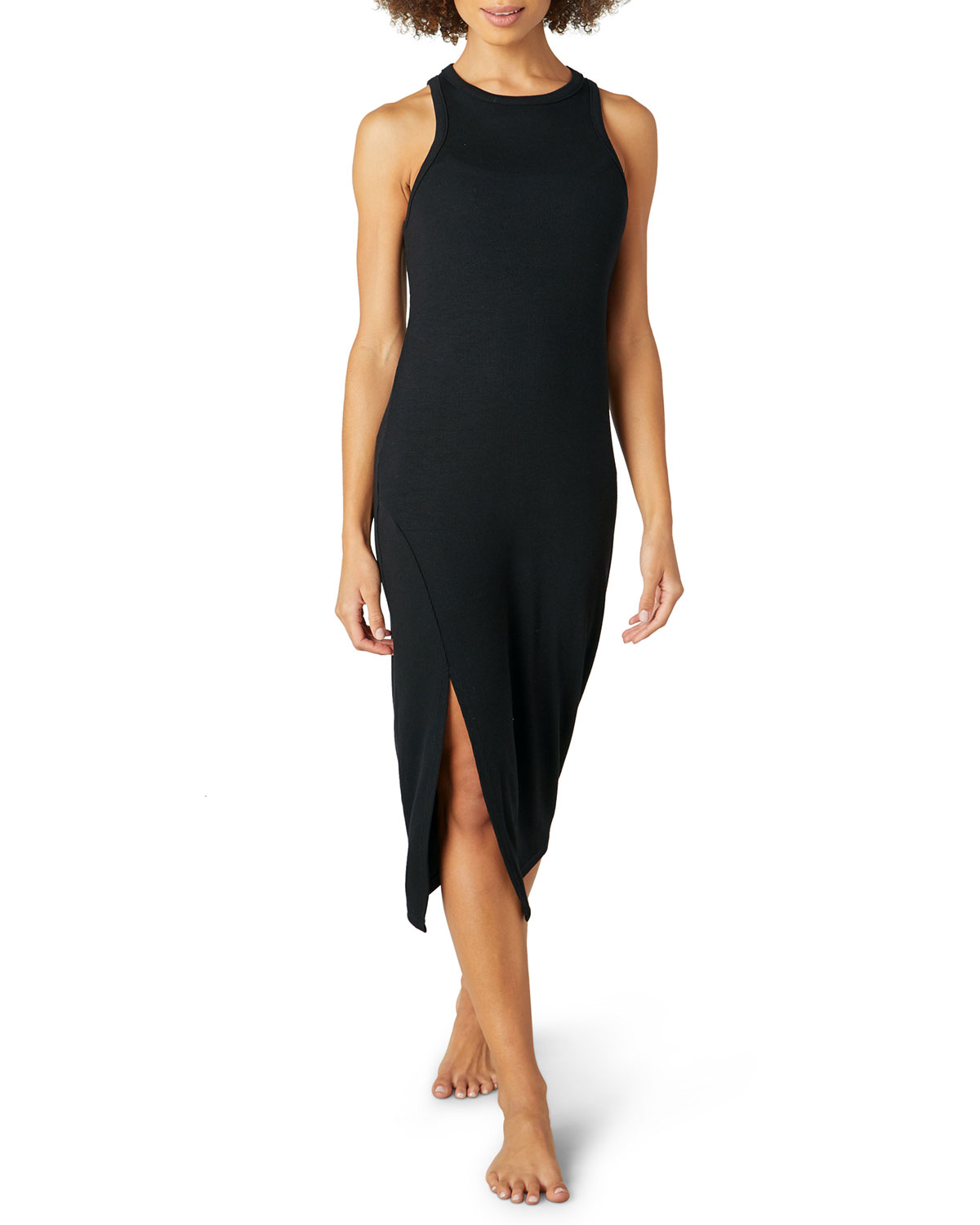 Beyond Yoga EASE INTO IT MIDI TANK DRESS