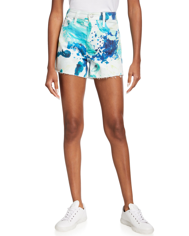 Alexxis Printed High-Rise Shorts