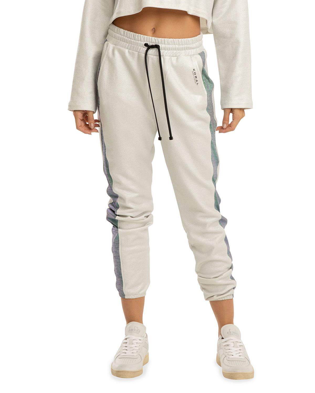 Brink Valo Mesh-Stripe Sweatpants