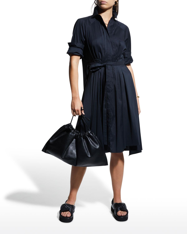 Gemma Long-Sleeve Poplin Dress