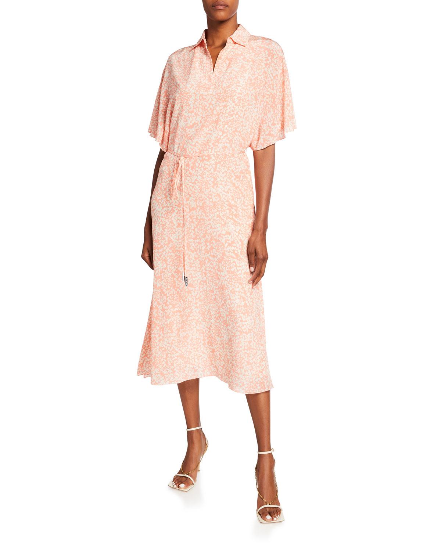 Felicia Abstract Silk Dress