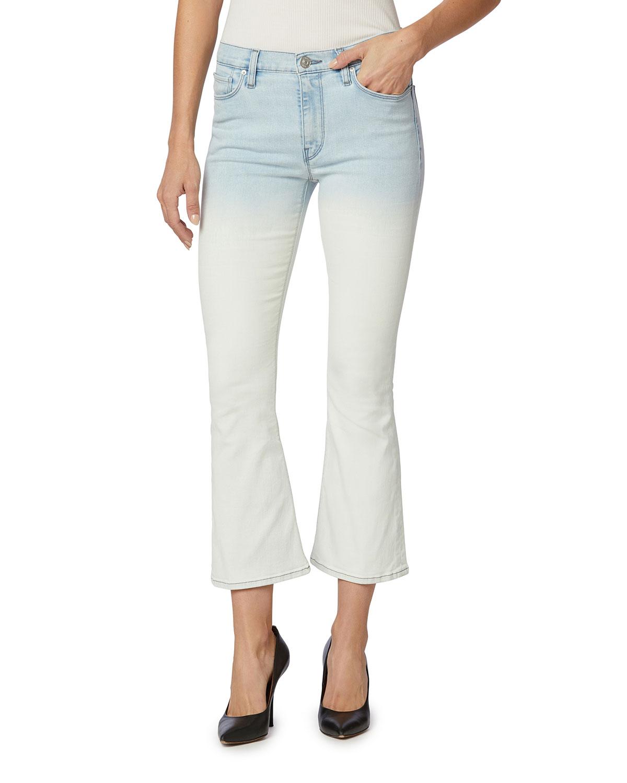 Barbara High-Rise Cropped Boot-Cut Jeans