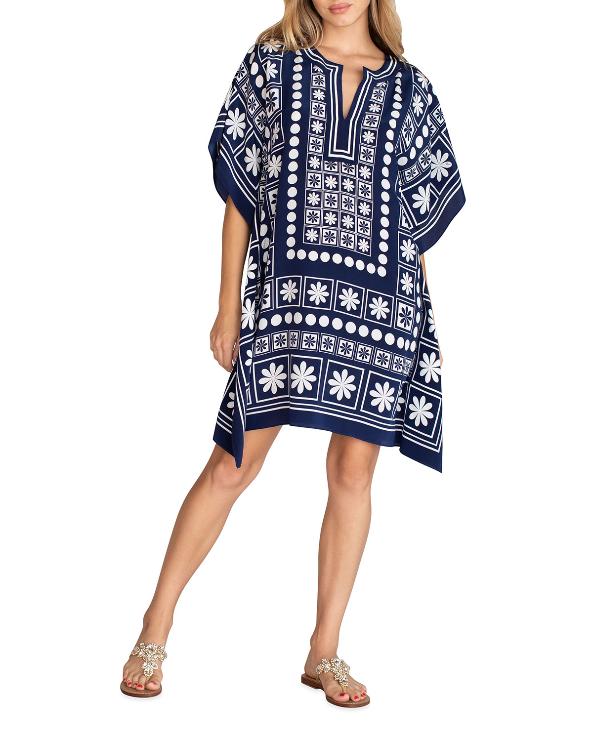 Trina Turk THEODORA GRAPHIC CAFTAN DRESS