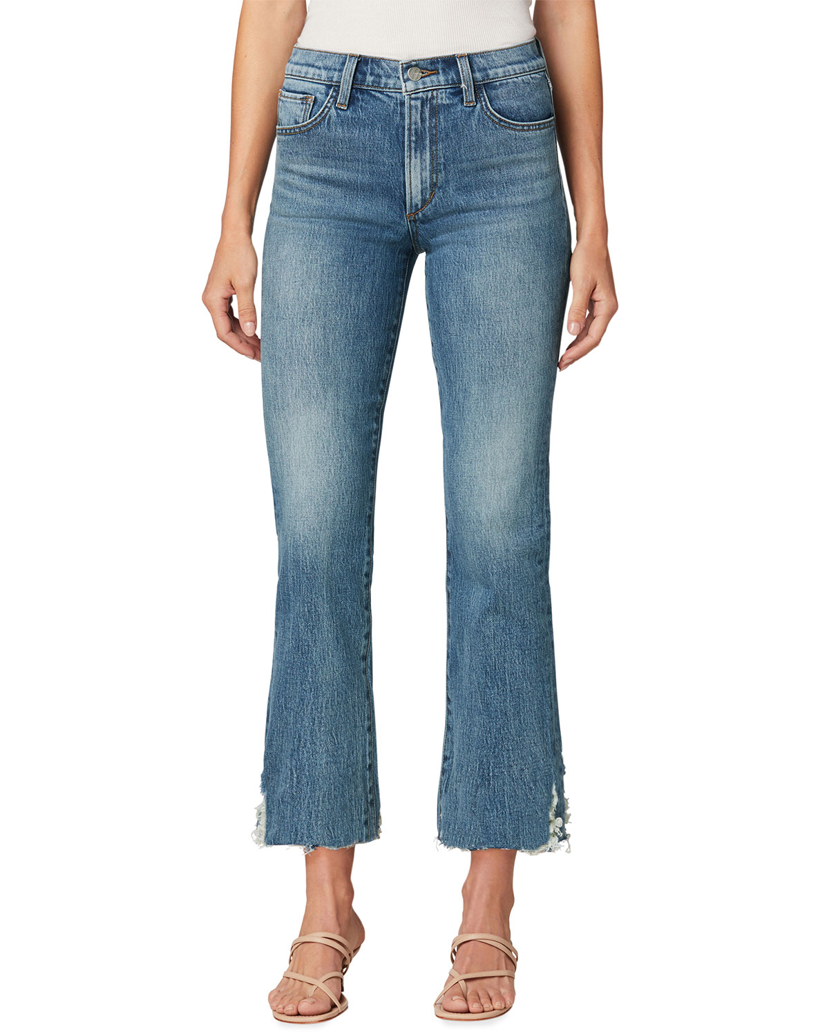The Callie Boot-Cut Jeans with Destroyed Hem