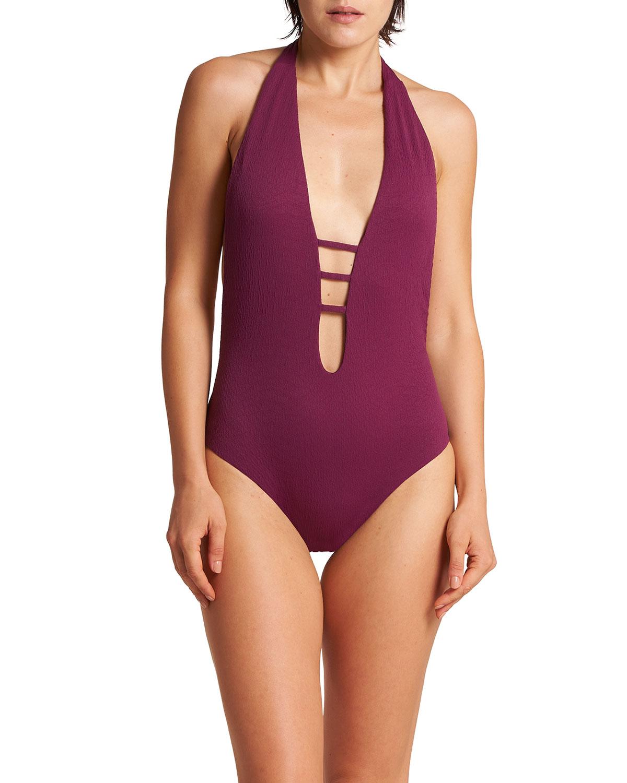 Panarea Plunging One-Piece Swimsuit