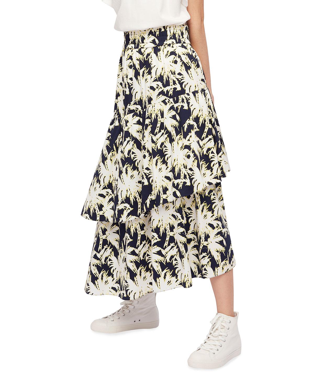 London Palm Tiered Skirt