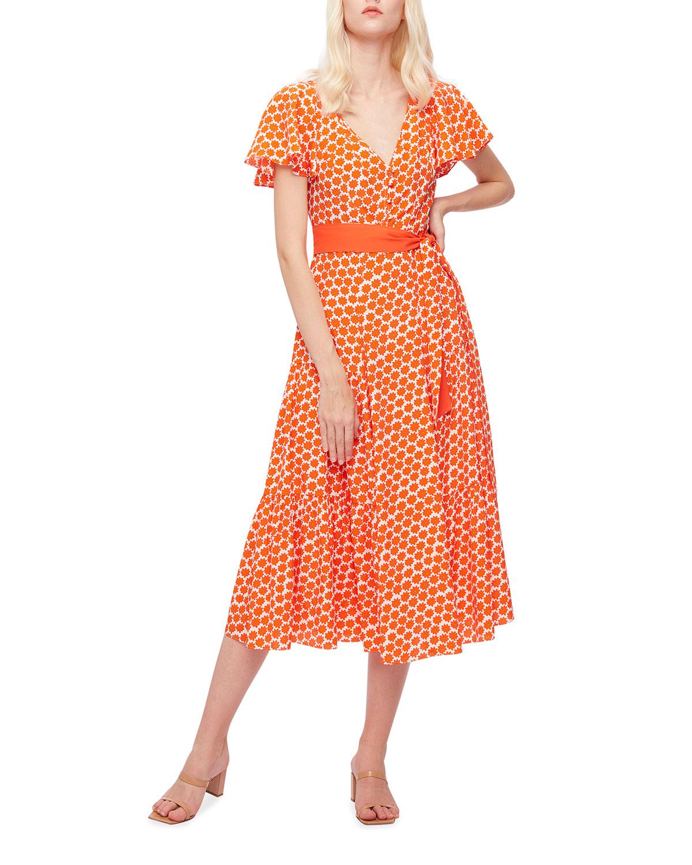 Leila Printed Midi Dress