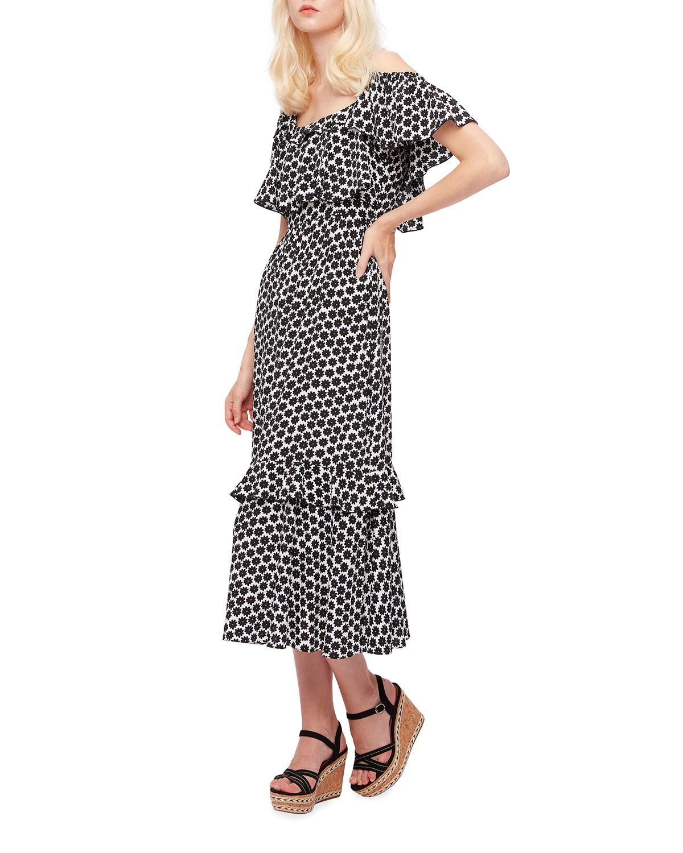 Harriet Cold-Shoulder Ruffle Dress