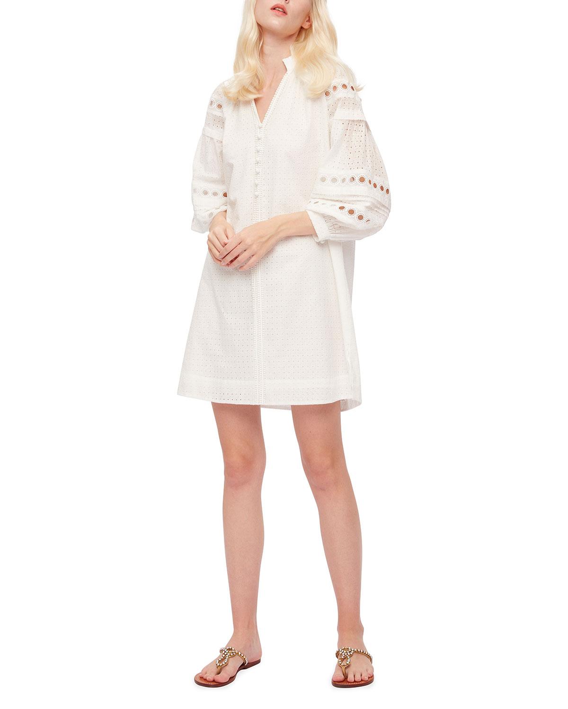 Nicolette Mini Eyelet Dress