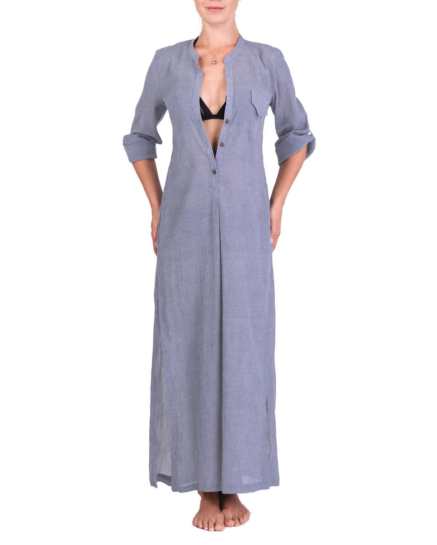 Tracy Long Coverup Shirtdress