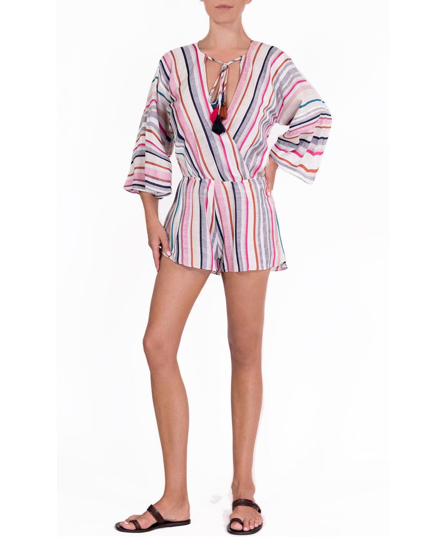 Penelope Coverup Stripe Romper