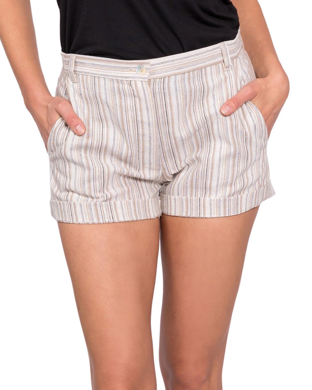 Dani Striped Linen Shorts