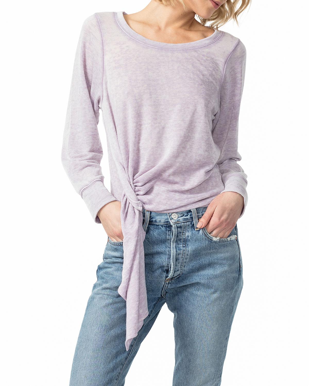 League of Her Own Front-Tie Sweatshirt