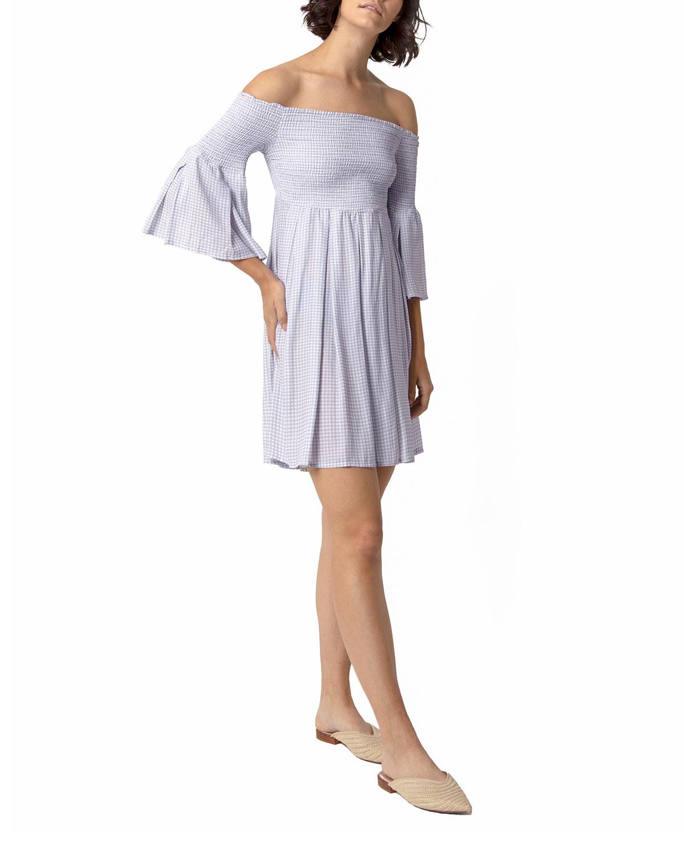 Jordan Smocked Mini Check Dress