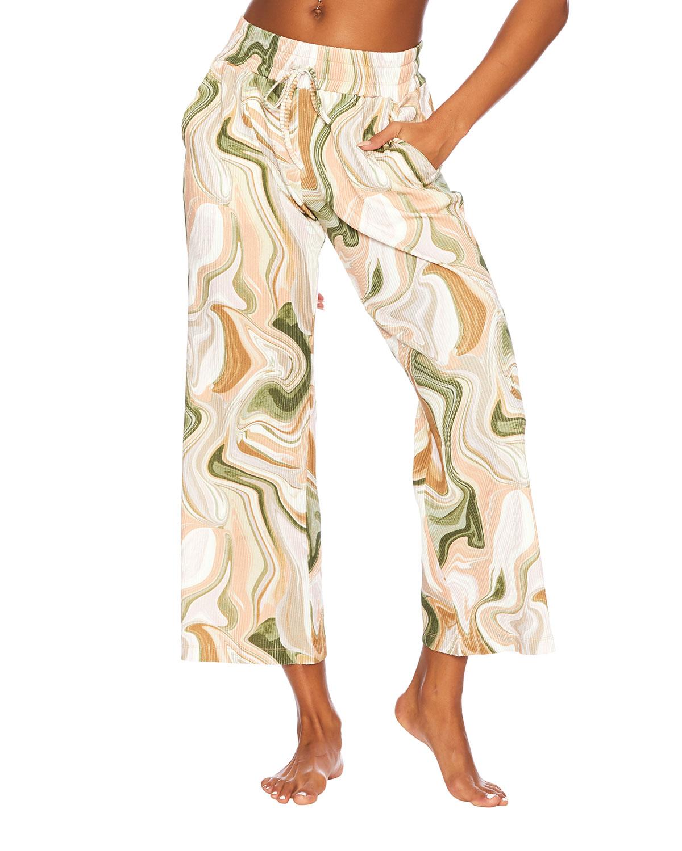 Hailey Marble-Print Lounge Pants