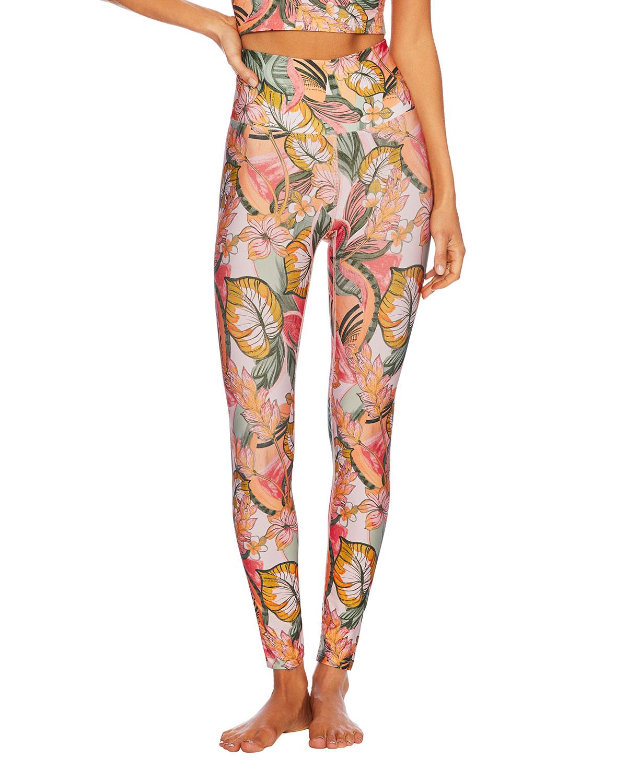 Piper Tropical Floral-Print Leggings