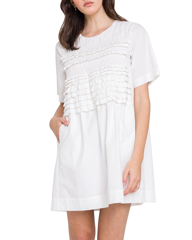 Ruffle Mini T-Shirt Dress