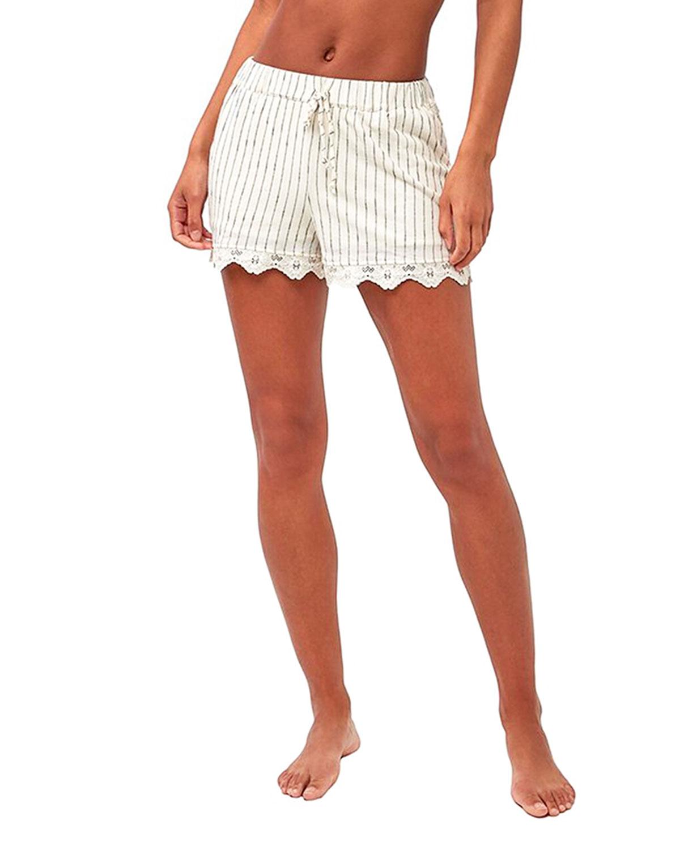 Flutter Stripe Shorts w/ Lace