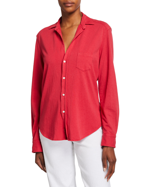 Eileen Heritage Knit Button-Up Shirt