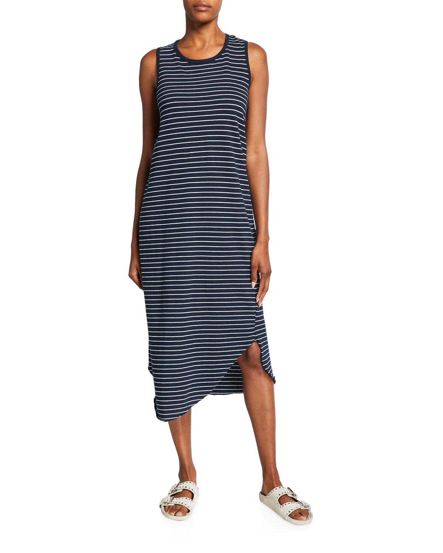 Easy Luxe Striped Jersey Midi Tank Dress