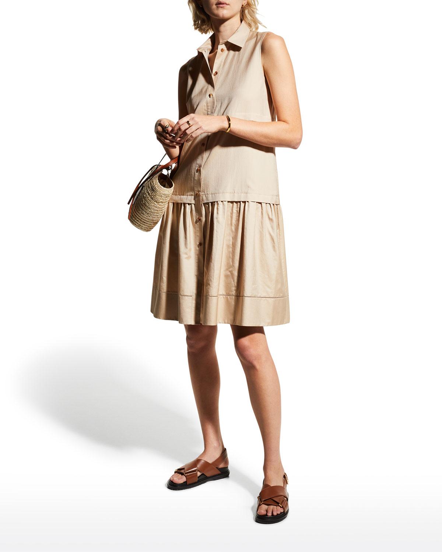 Serena Sleeveless Shirtdress